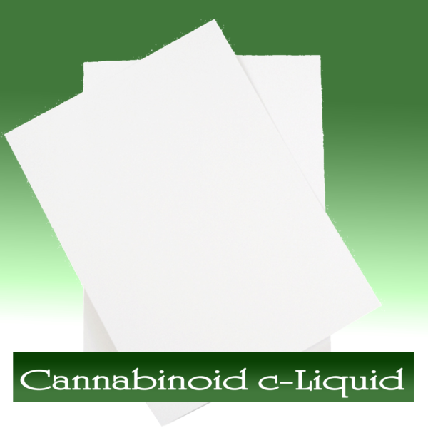 Cannabinoid c-Liquid Spray on Paper