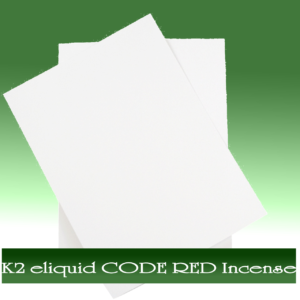Buy K2 e-liquid CODE RED Incense On Paper Online