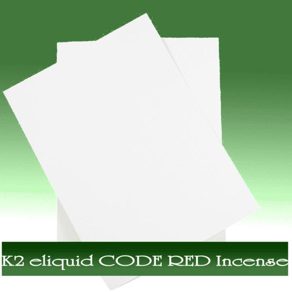 Buy K2 e-liquid CODE RED Incense On Paper Online, k2 e liquid buy